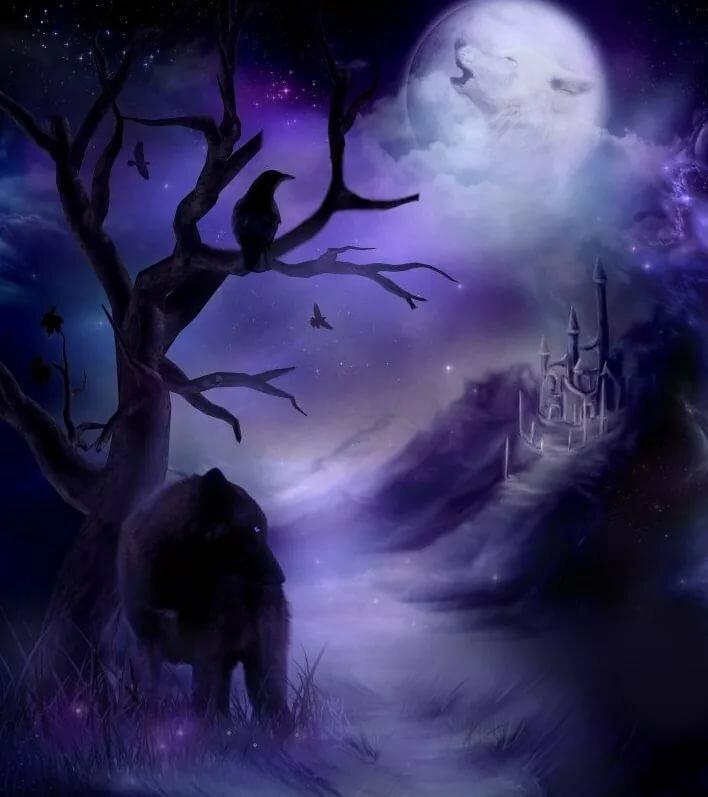 Картинки волки уходят в небеса