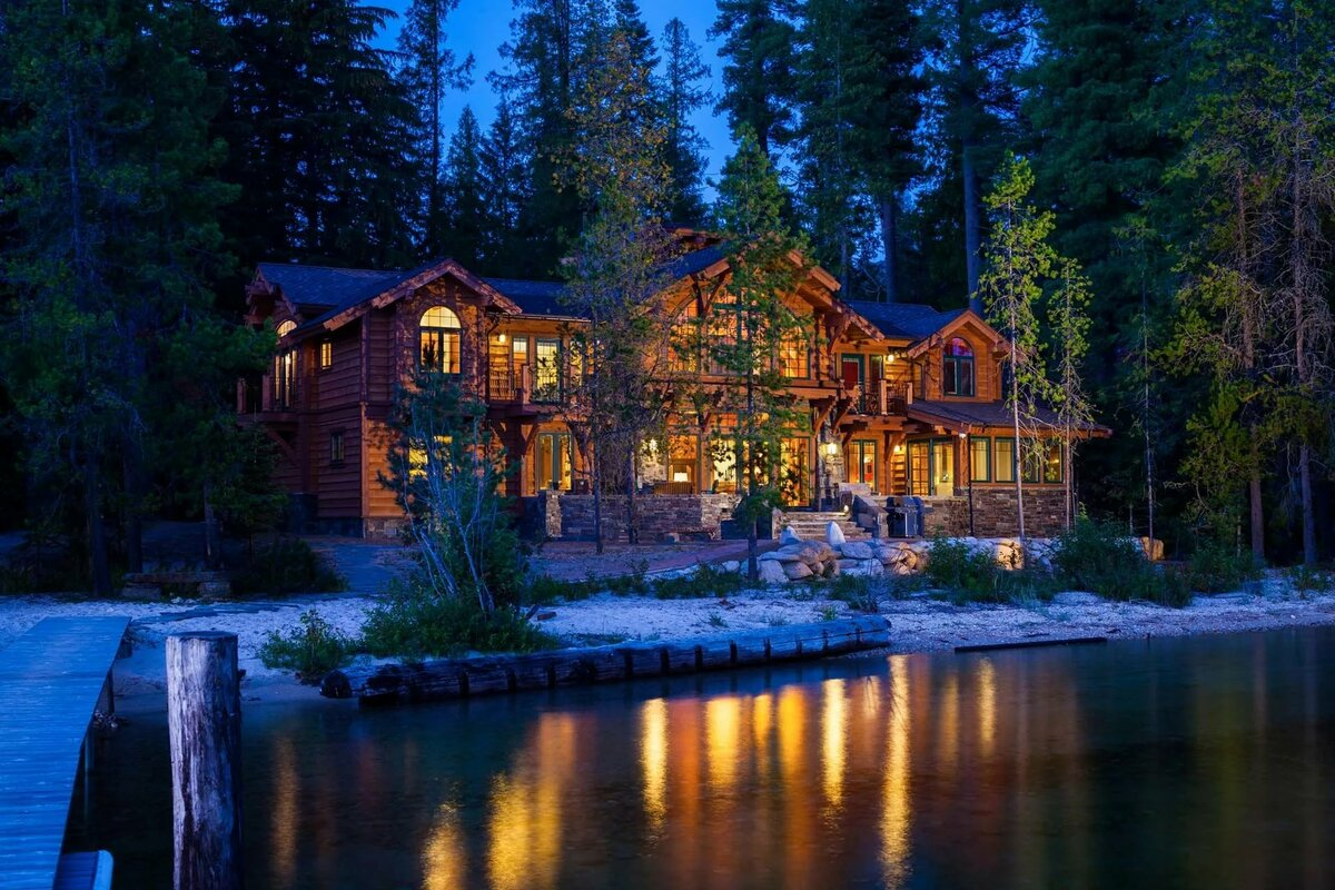 красивые дома у озера фото сидишь уши дерьме