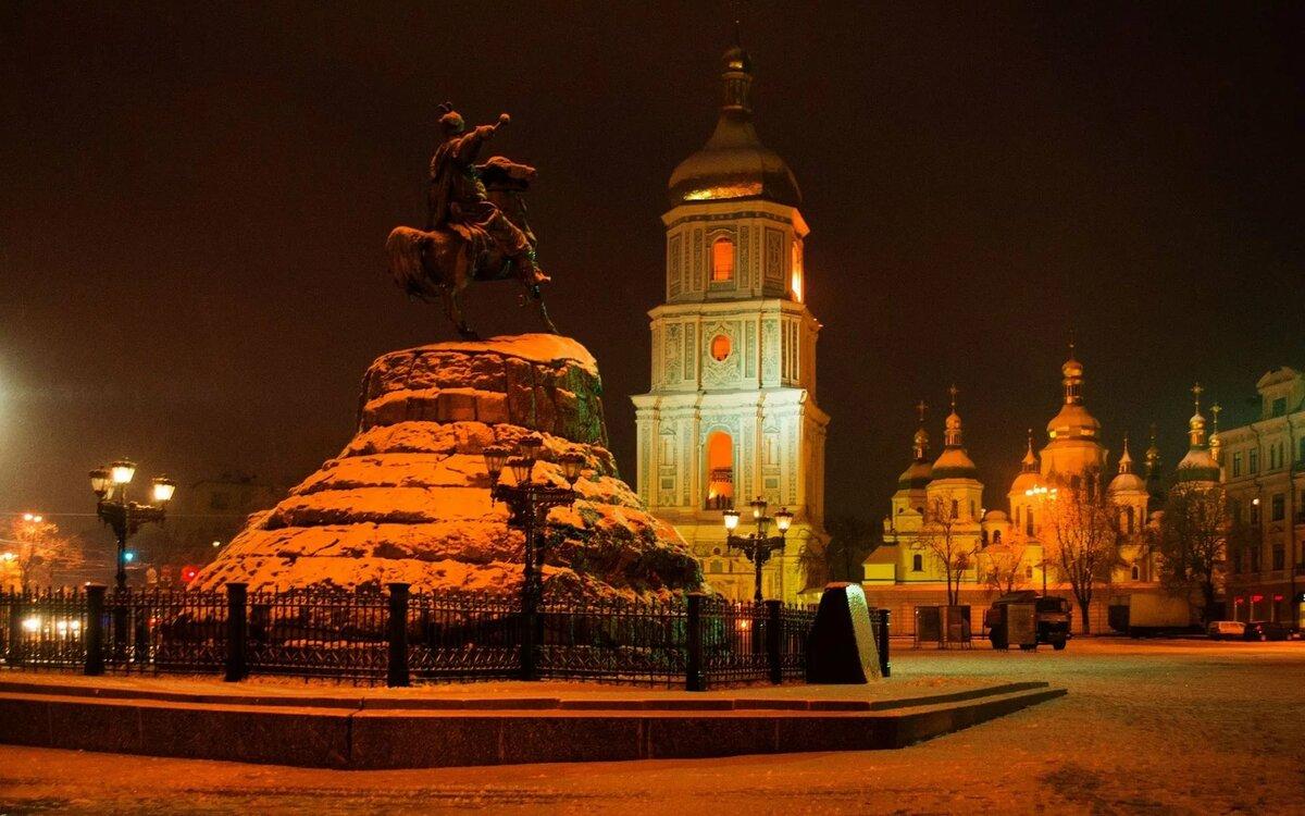 фото памятников киева ночью ничто нарушает