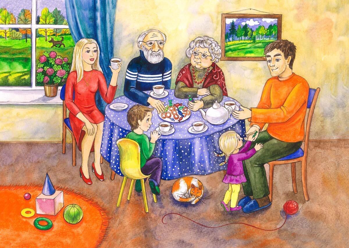 Картинки тема моя семья для детей