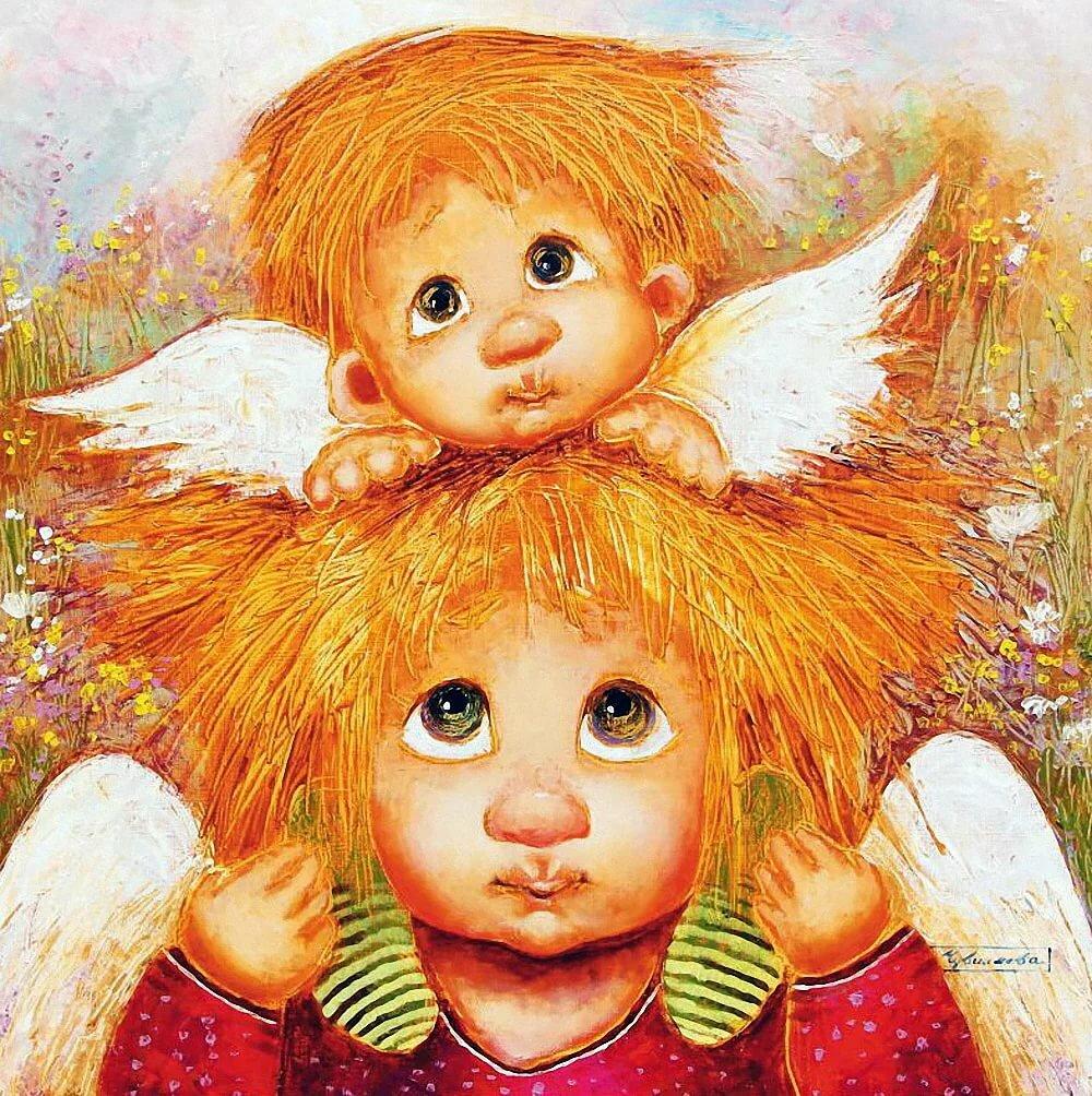 Два ангела картинки забавные