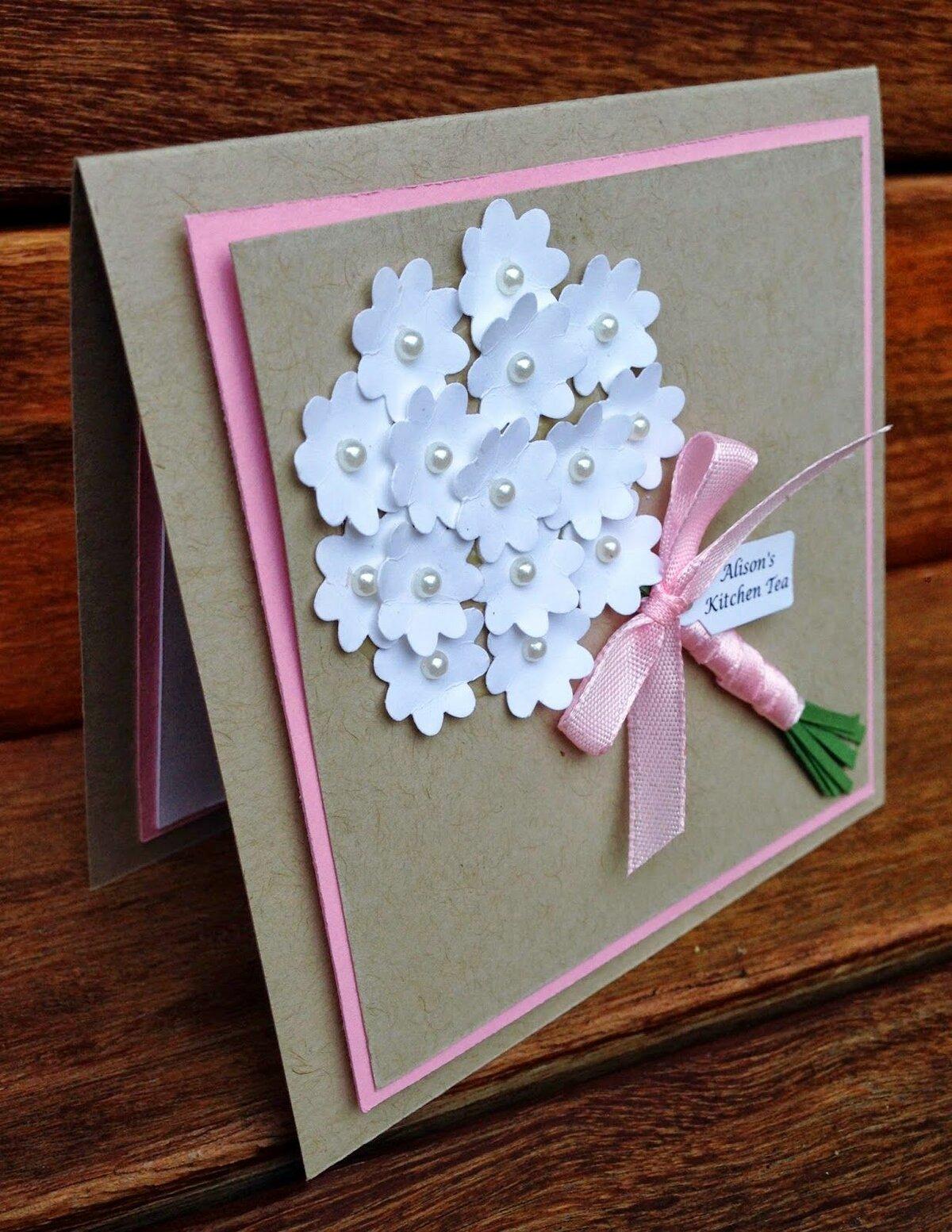 Делаем открытку на день рождения мамы