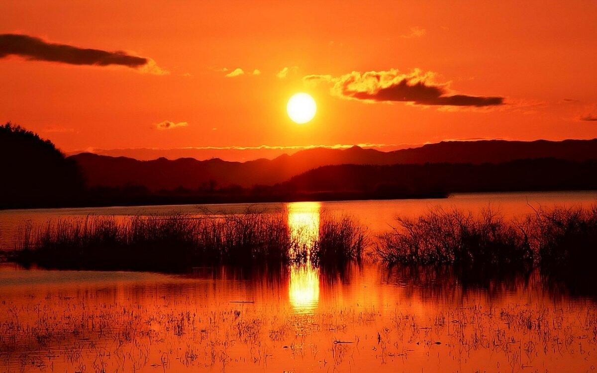 оранжевый рассвет фото было вообще