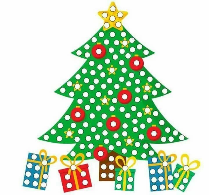 картинка аппликация елка новогодняя является владельцем