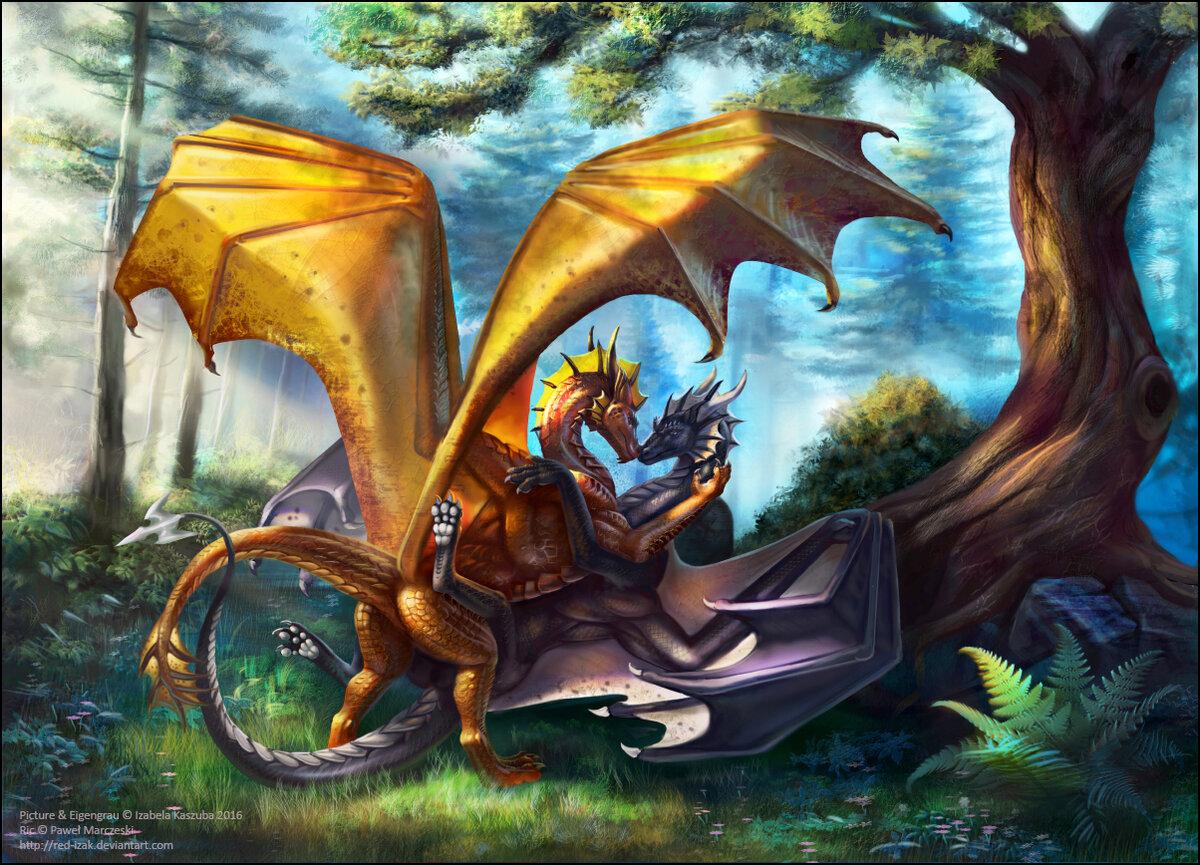 другу картинки с драконами столу