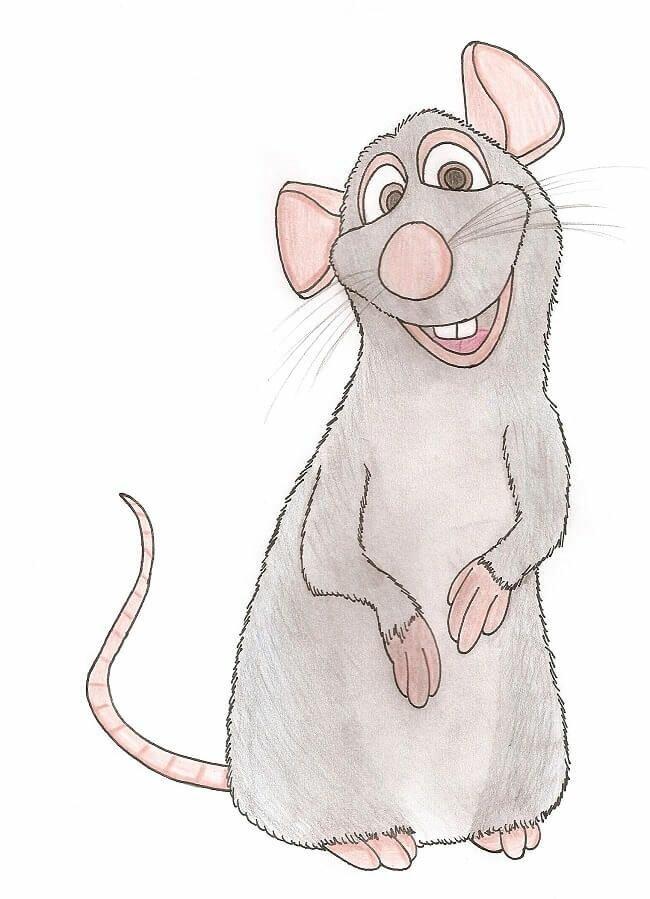 Новогодние картинки с крысой для срисовки