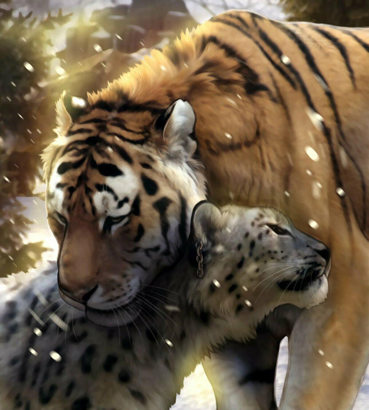 тигры львы рысь картинки союз образцовых орнаментов