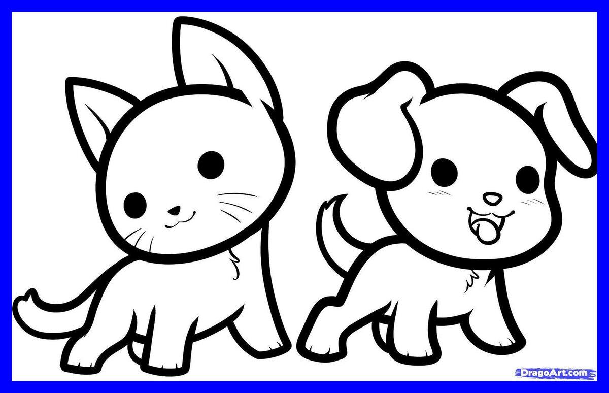 Картинки рисовать легкие животные