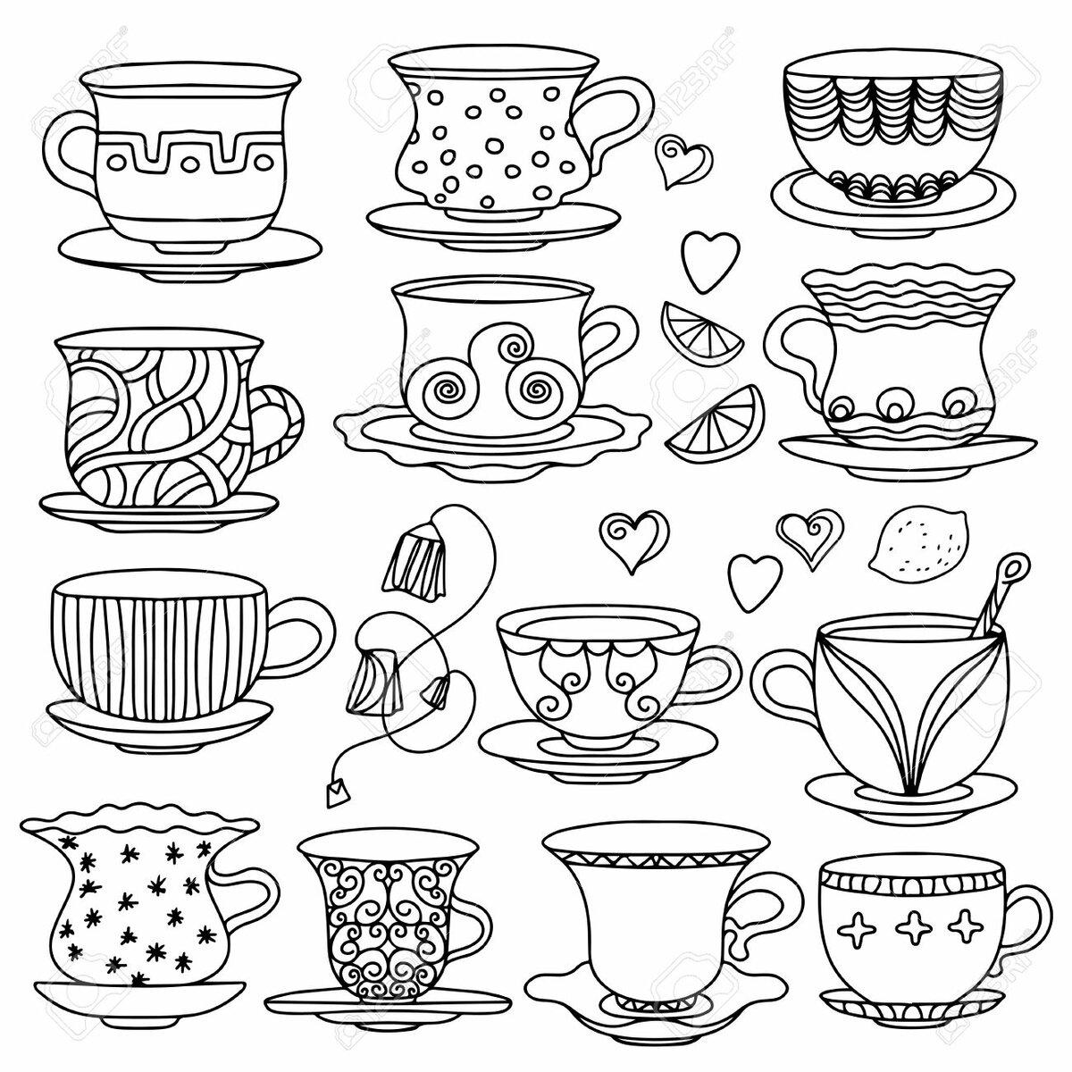 Узоры и орнаменты на посуде рисунки