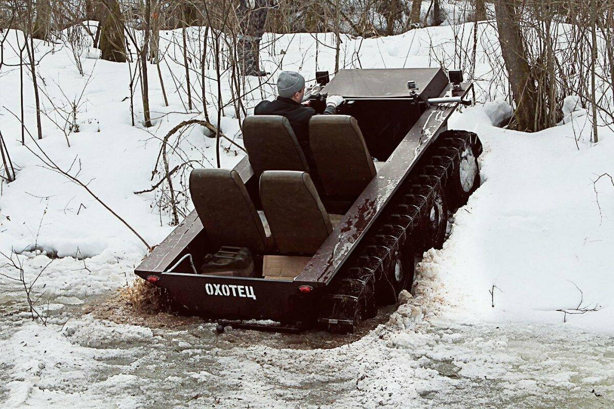 Плавающий снегоболотоход Охотец