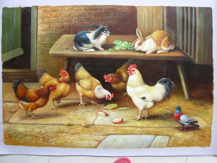 Птичий двор детские картинки