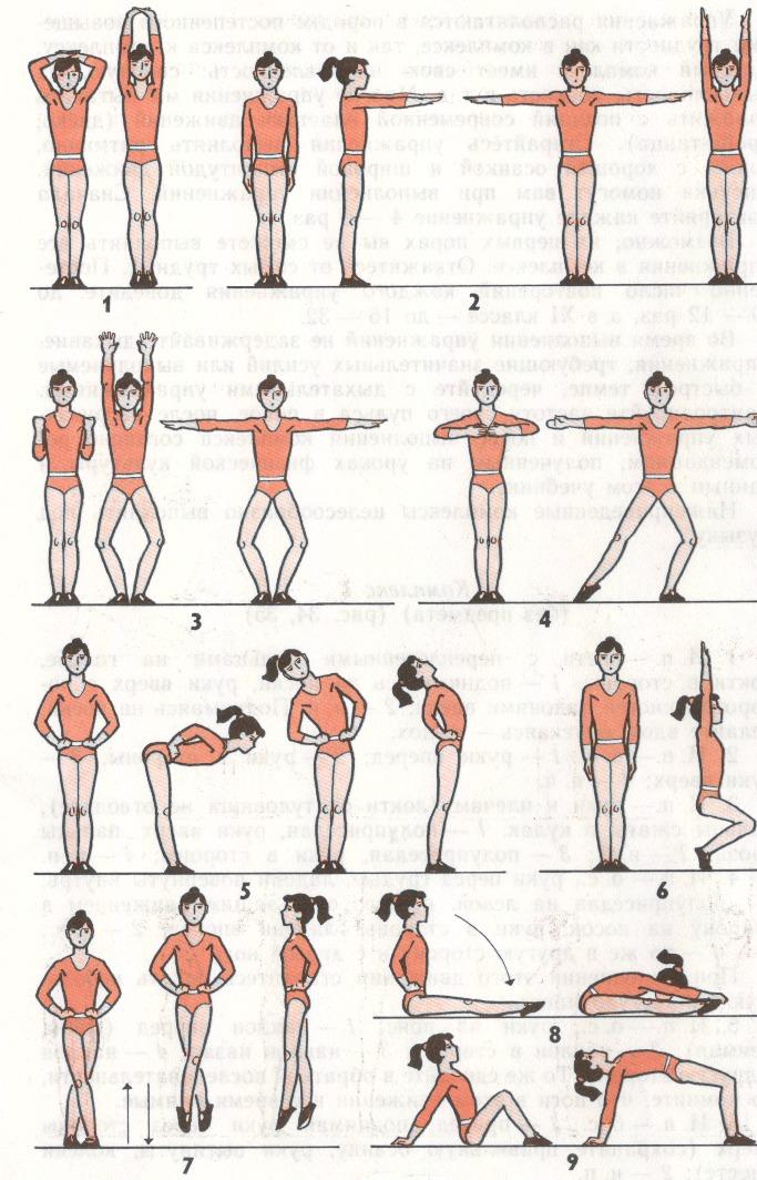 Упражнение утренней зарядки в картинках