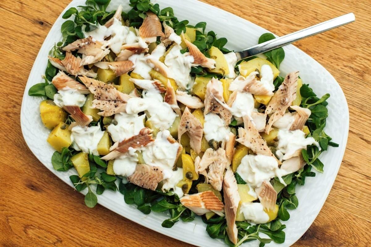 салат из отварной рыбы рецепт с фото максимальную точность