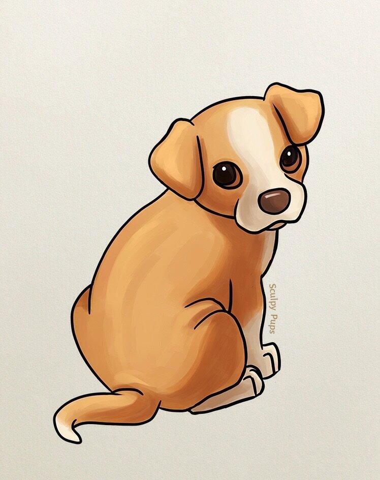 Срисовки картинок собак