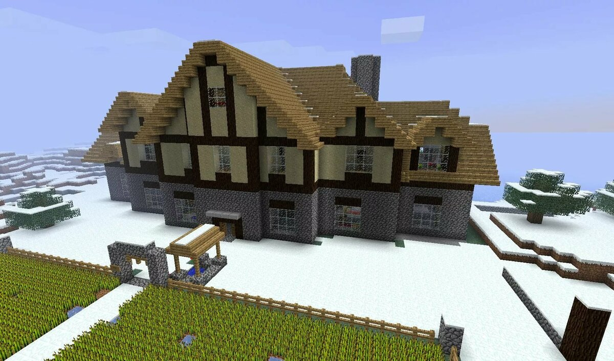 красивые дома в майнкрафт картинки со схемами