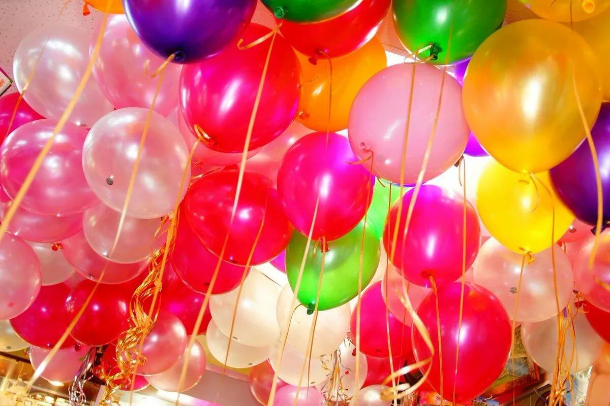 Воздушные шарики на день рождения картинки