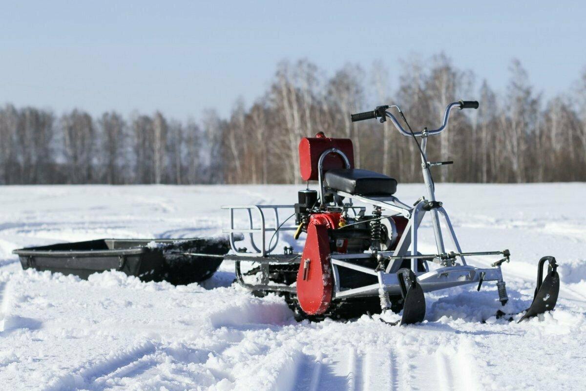 Мотобуксировщик с лыжным модулем Мухтар-7
