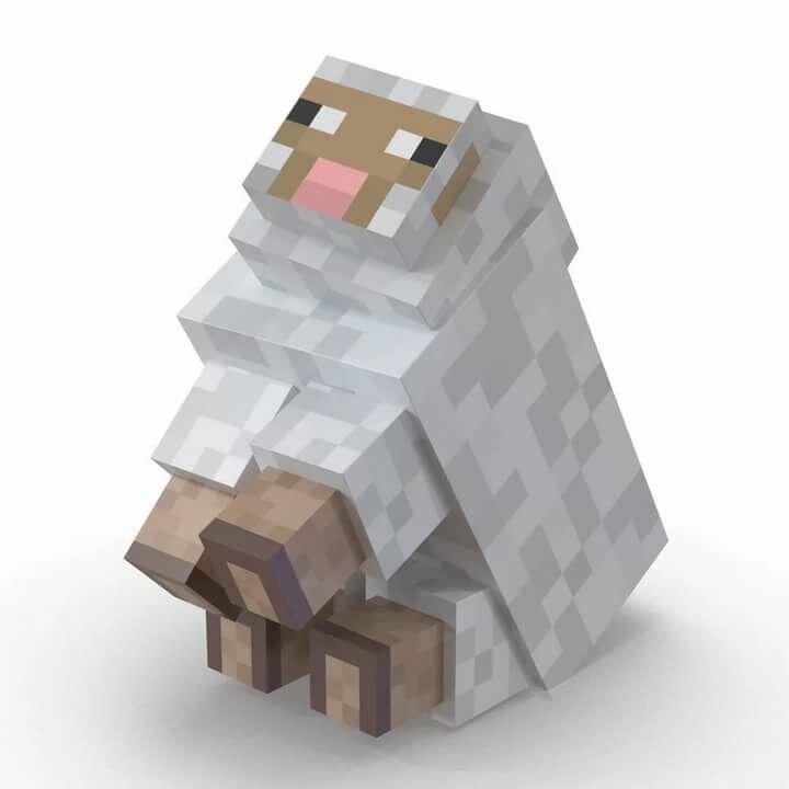 рисунки овечки в майнкрафт могут
