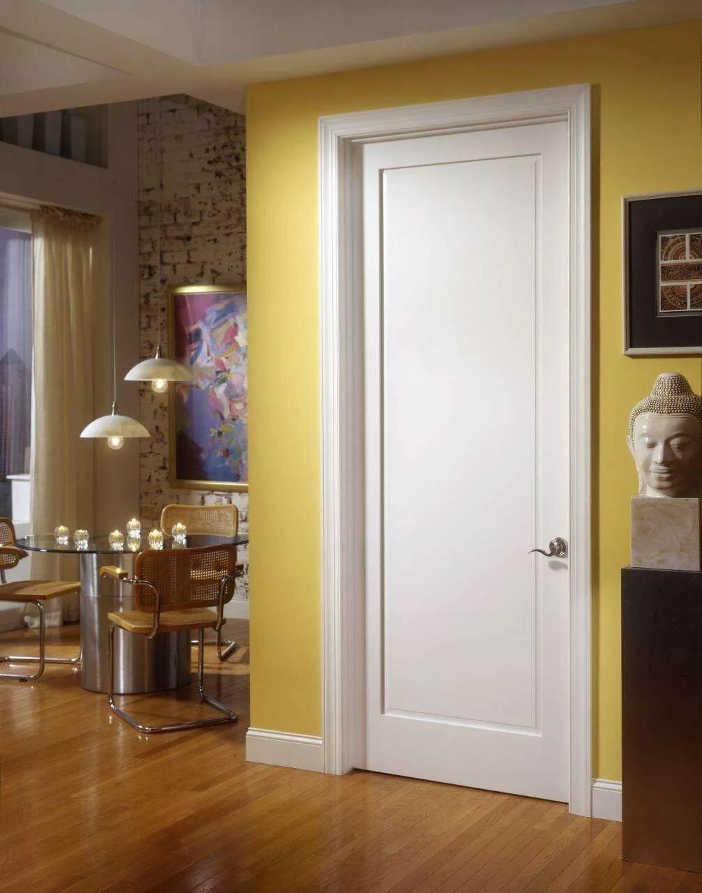 умеете рисовать белые двери в интерьере квартиры фото цветок