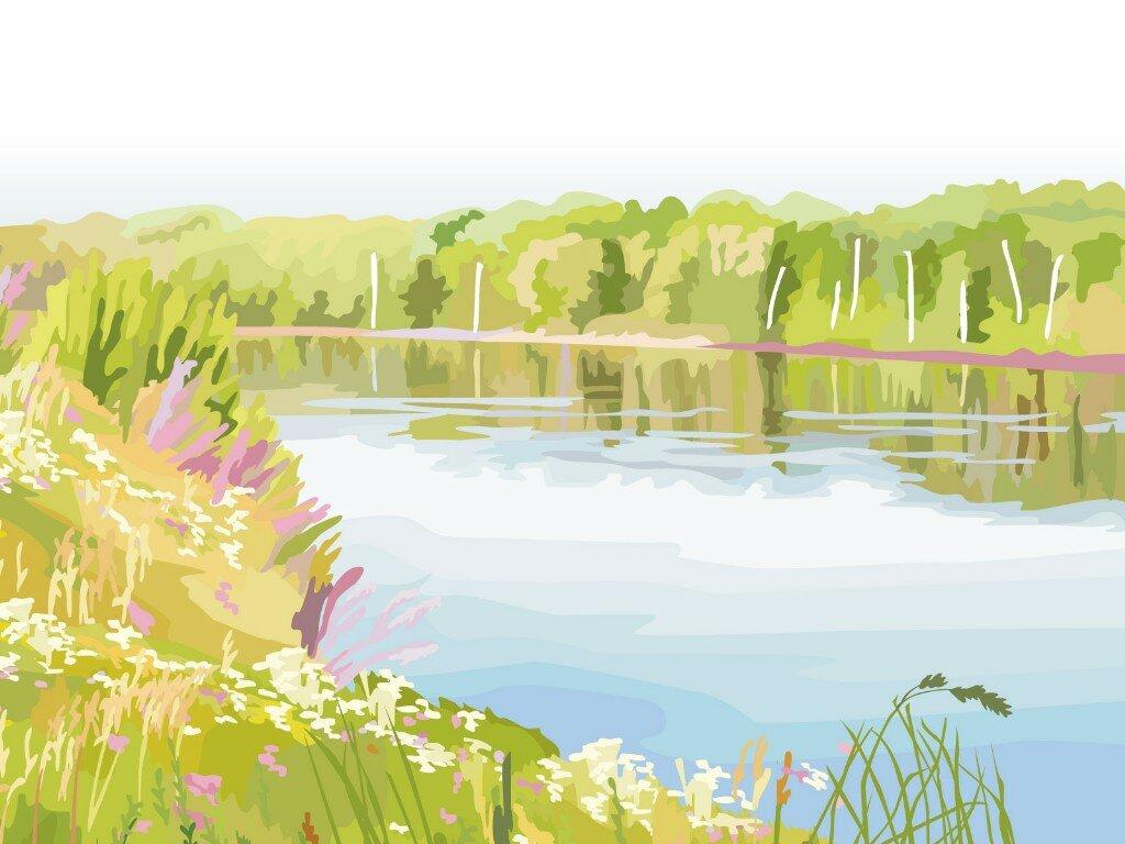 Картинка нарисованная река