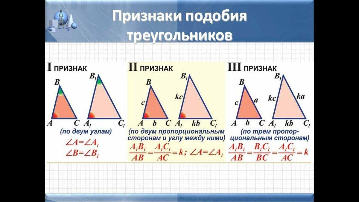 Картинки с треугольниками подобия
