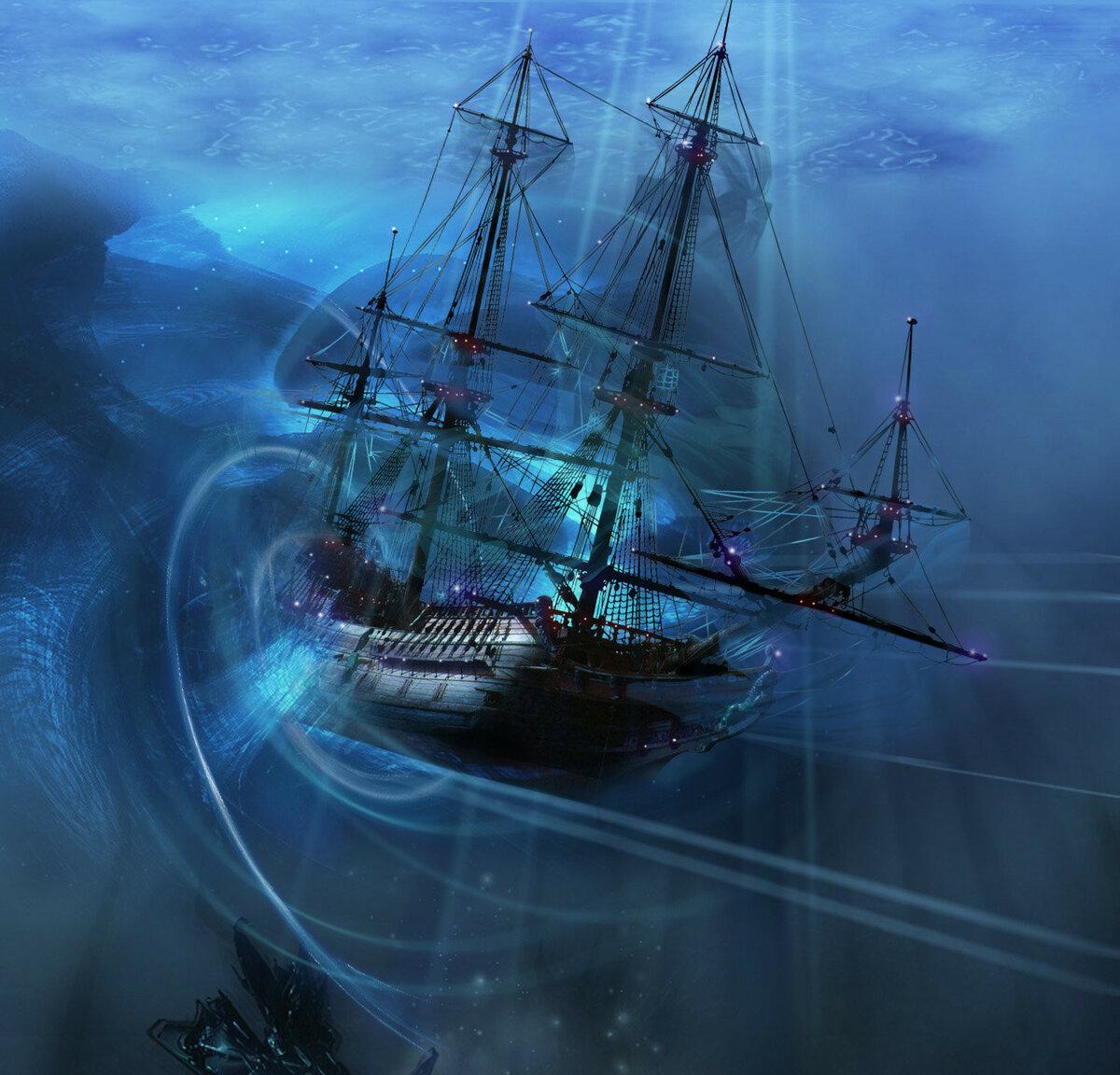 Корабль с призраками картинки