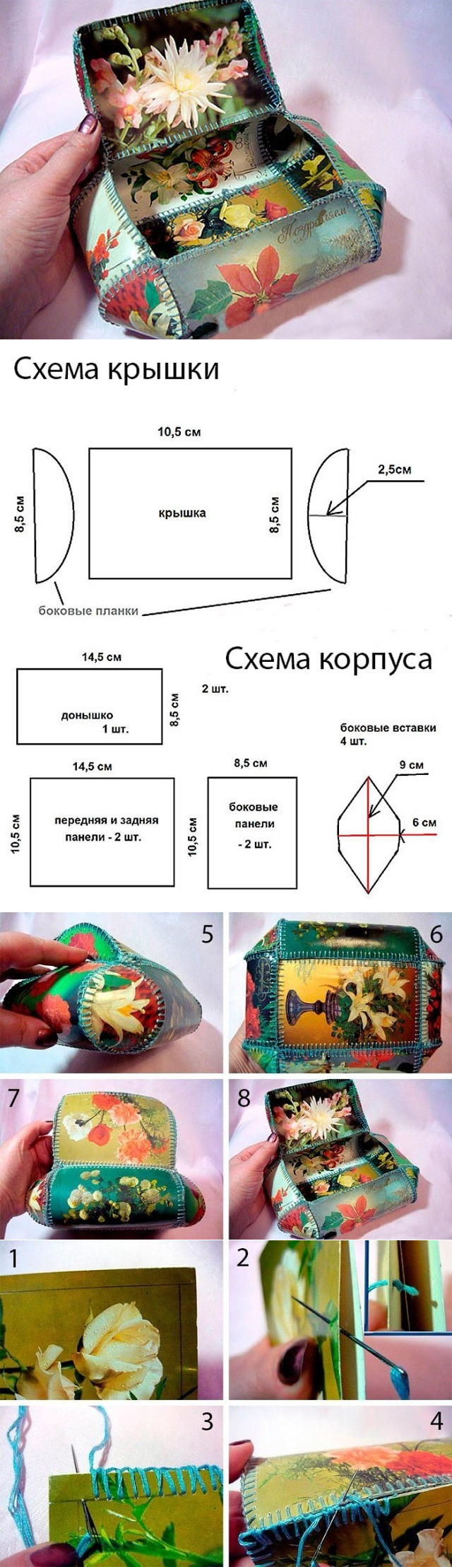 шкатулка из открыток детали виктории