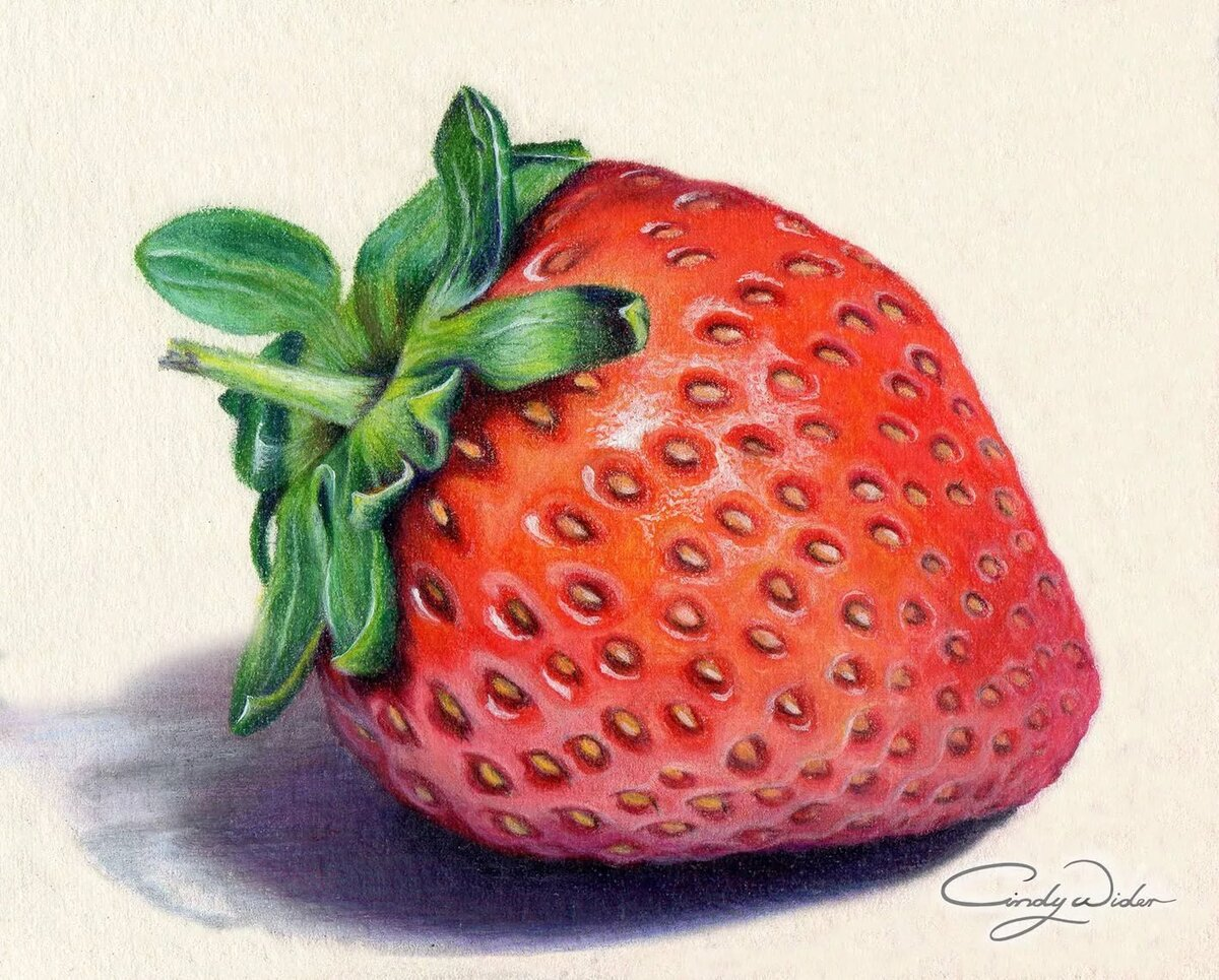 рисуем карандашом ягоды картинки желаба полностью скрывает