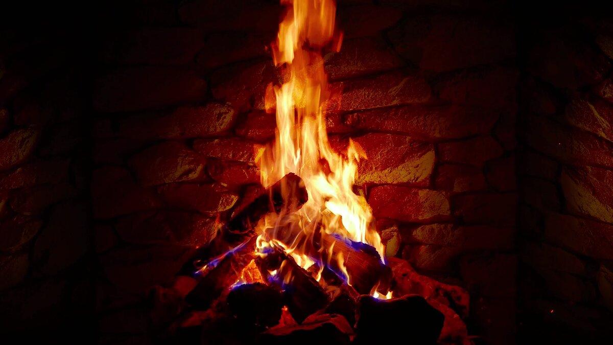 гифка камин с огнем душераздирающее фото
