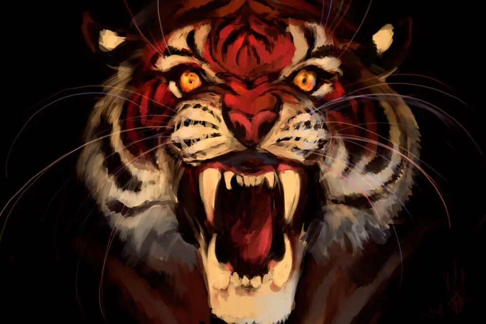Тигр картинки злой