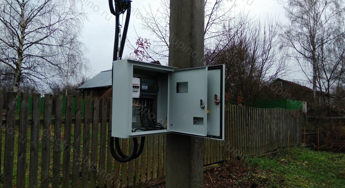 Подключение 15 кВт МОЭСК в деревянном доме под ключ в Ступинском районе