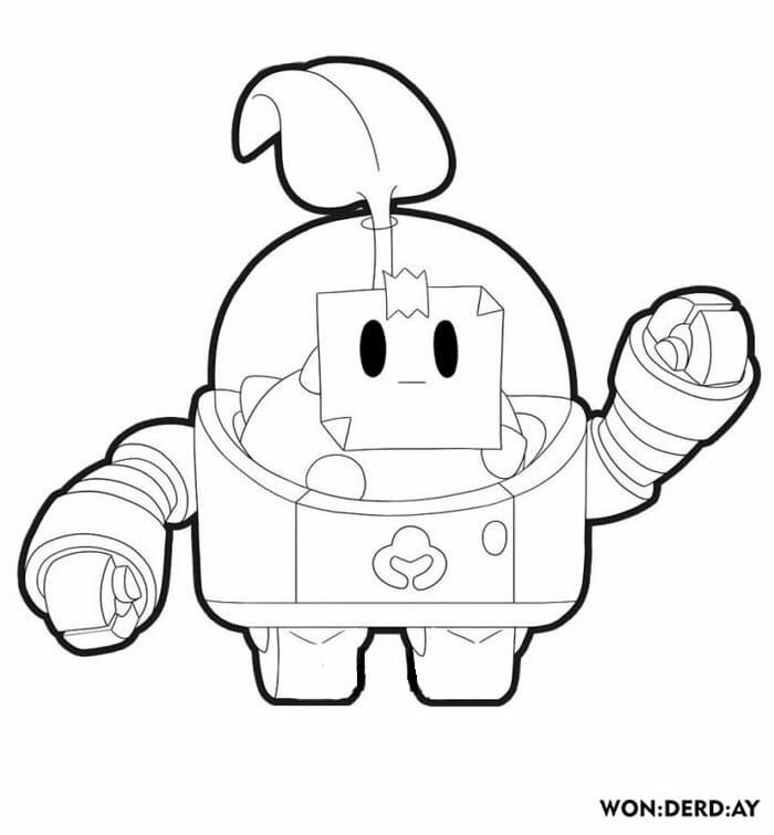 «Раскраски Спраут. Распечатать персонажа из игры Brawl ...