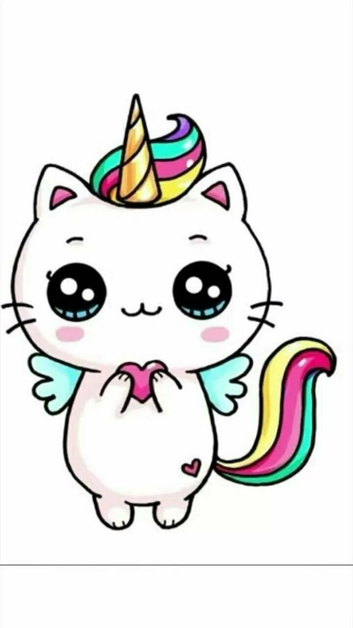 Картинка кошка единорожка