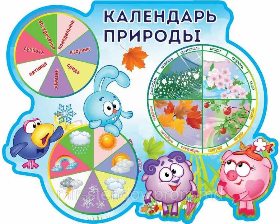 Картинки календаря природы в детсаду