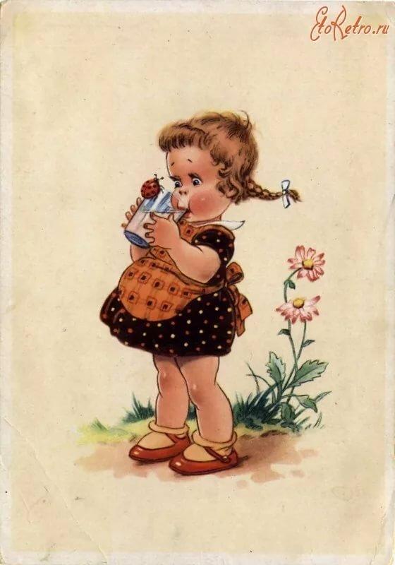 ретро открытки ольге