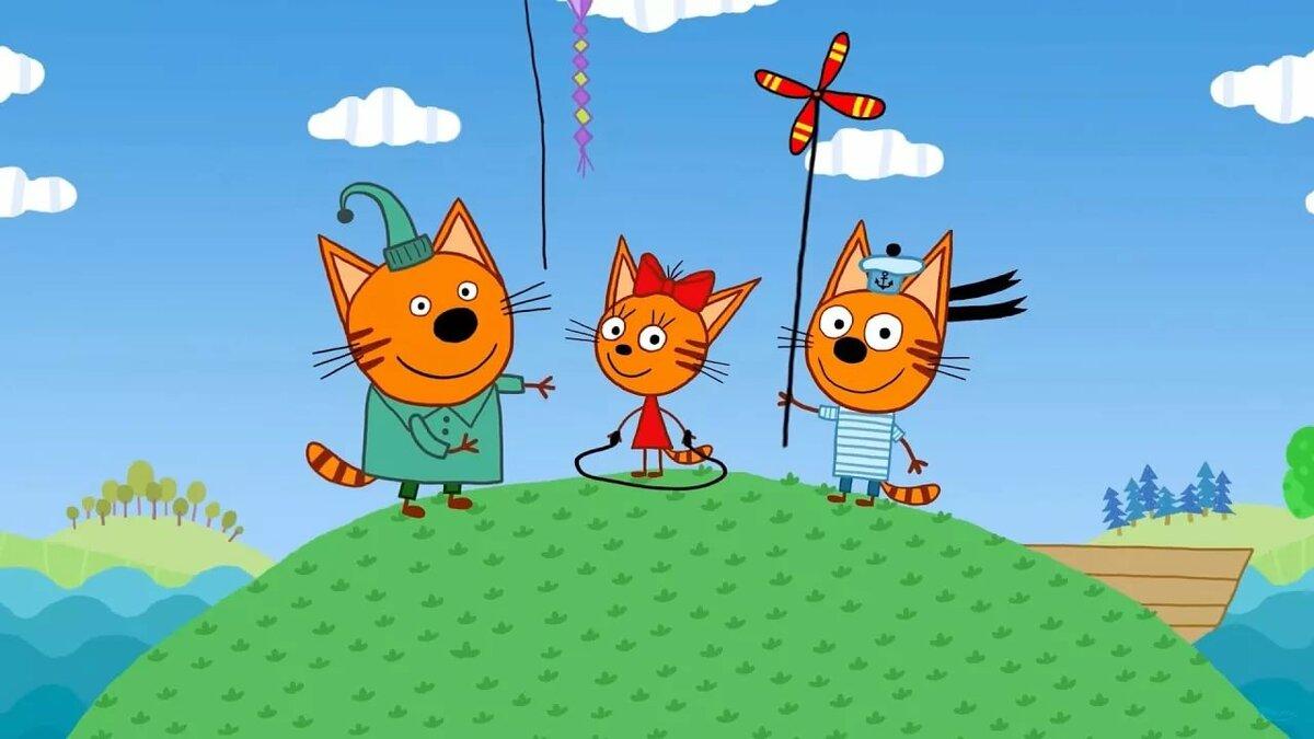 Мультик три кота картинки коржик