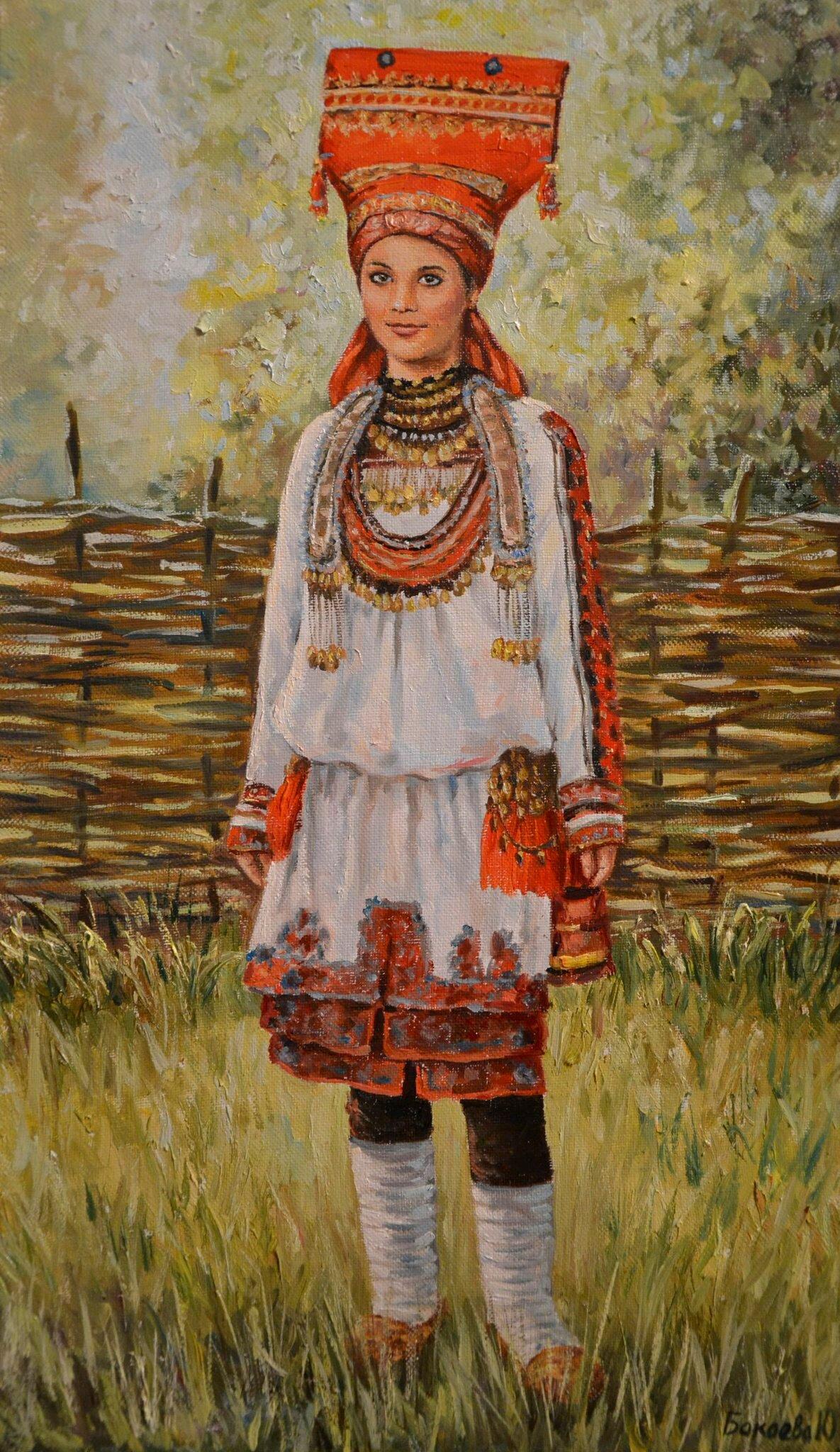 Национальный костюм мордовский картинки
