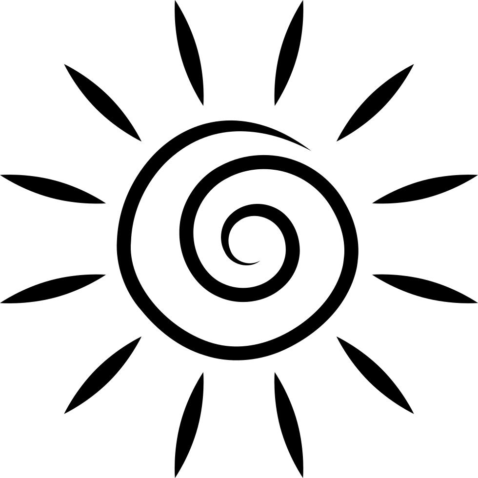 Солнышко силуэт картинка
