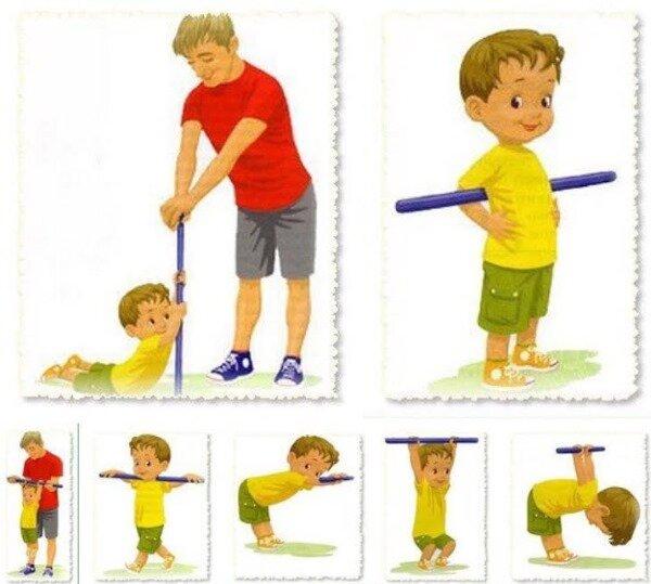 Комплекс упражнений с гимнастической палкой картинки