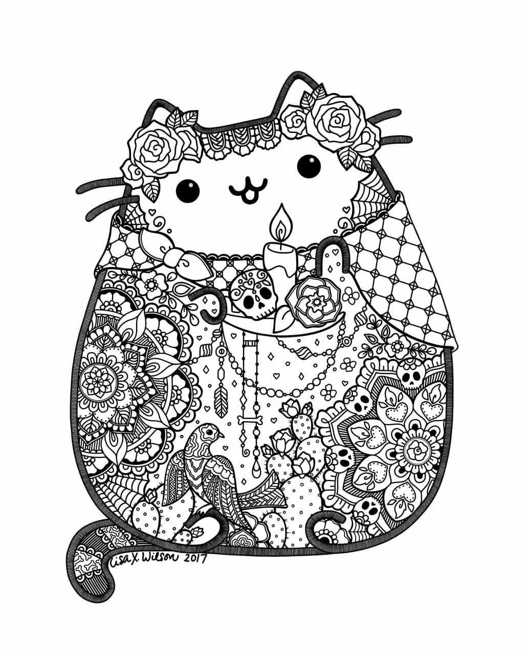 картинки котика пушина распечатать