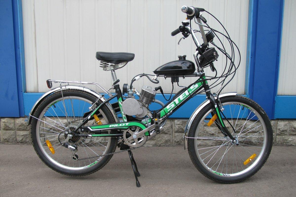 Складной велосипед с мотором