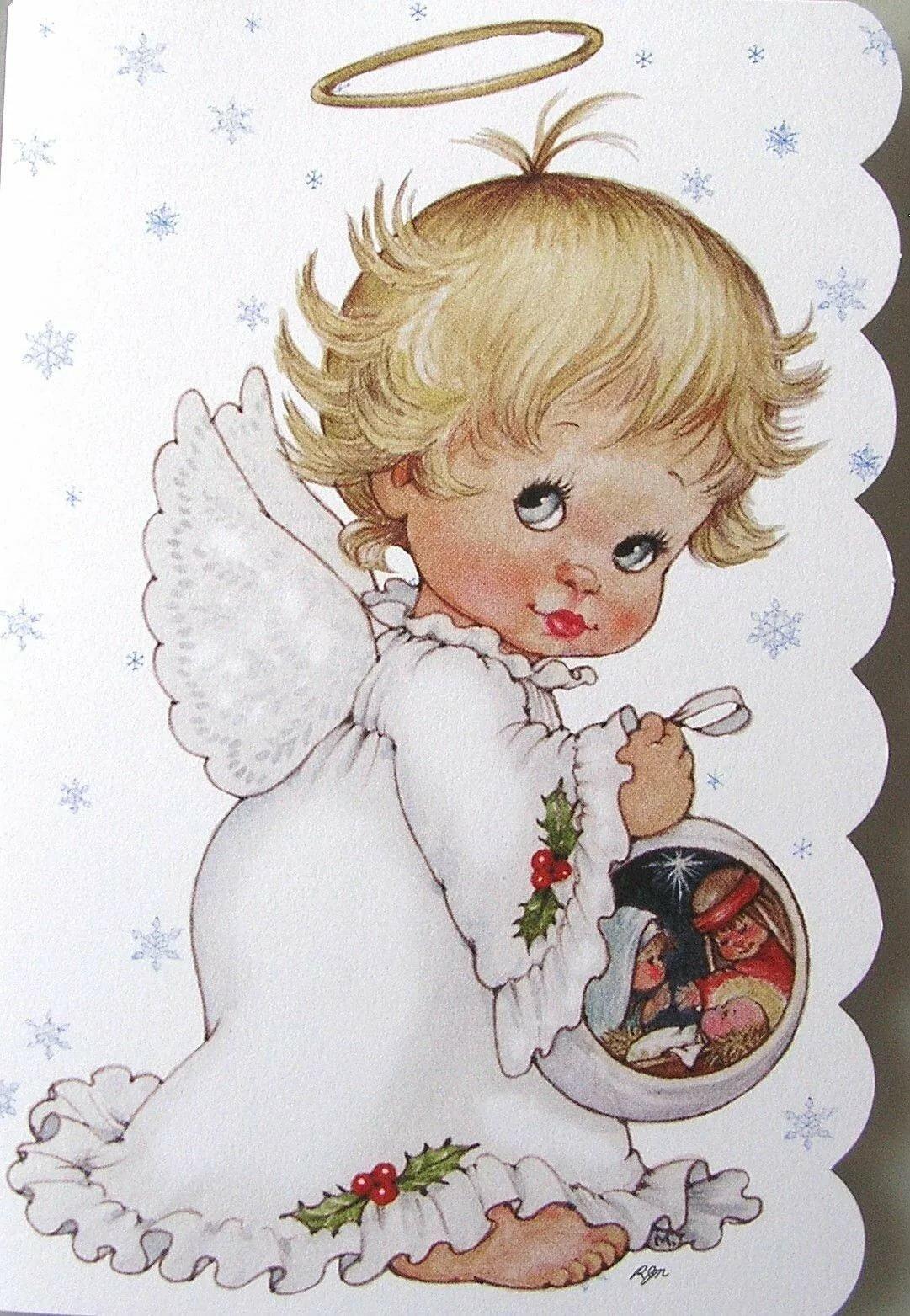 Новогодние картинки с ангелочком