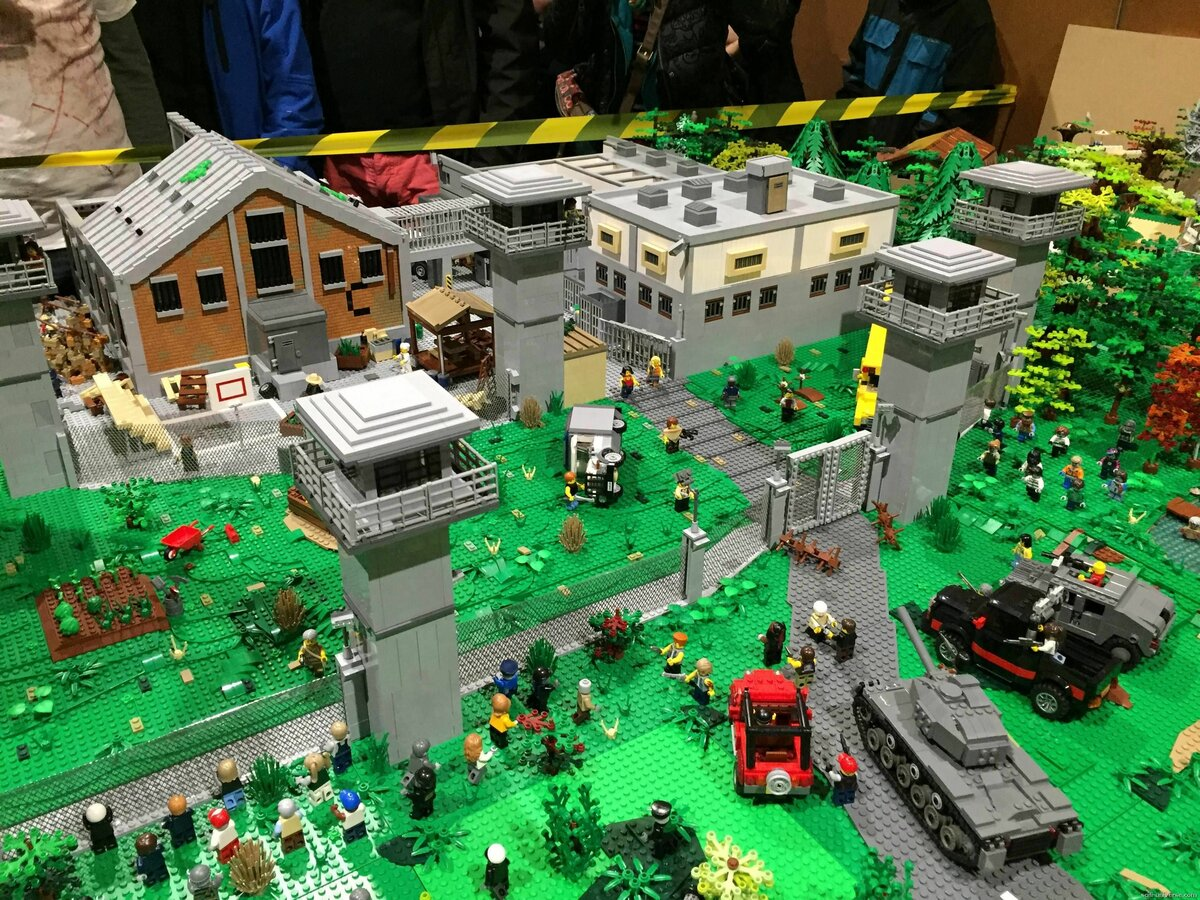Лего зомби в городе картинки