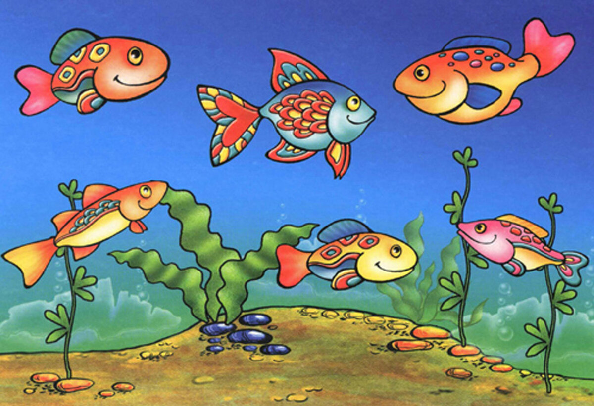 рисунки рыбок картинки цветные пресноводные относится