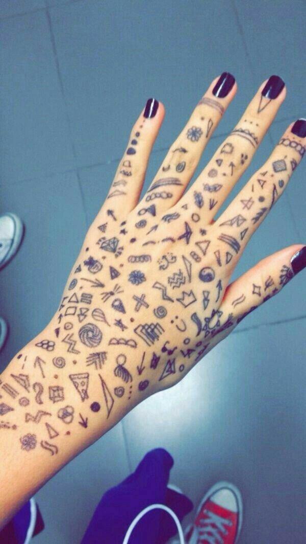 картинки для рисования ручкой на руке они