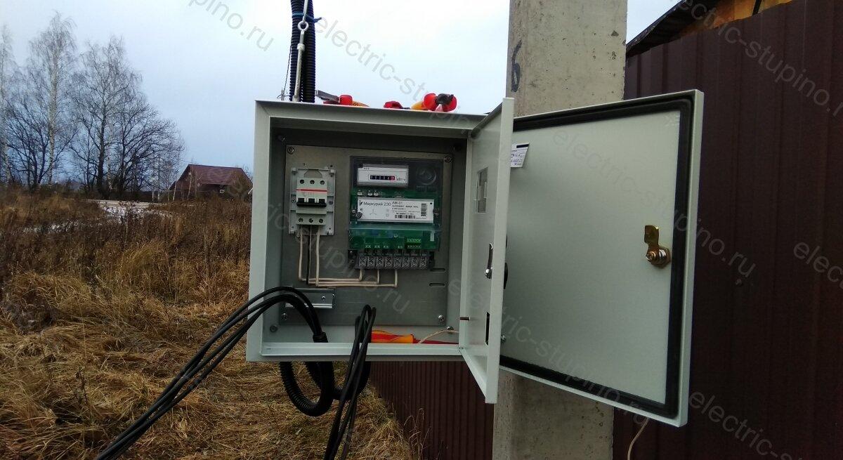 Подключение электричества 15 кВт в электрощите для частного дома