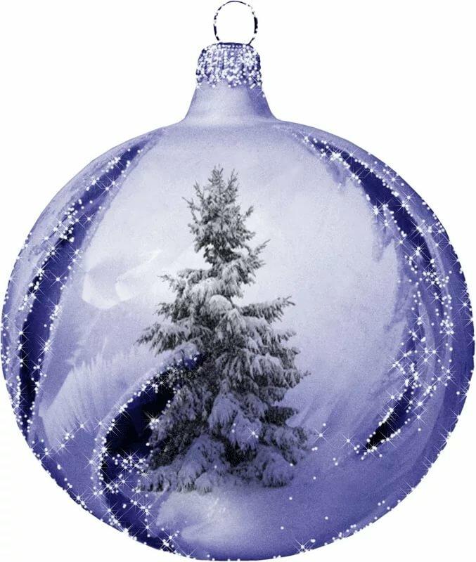 гифка новогодние шары