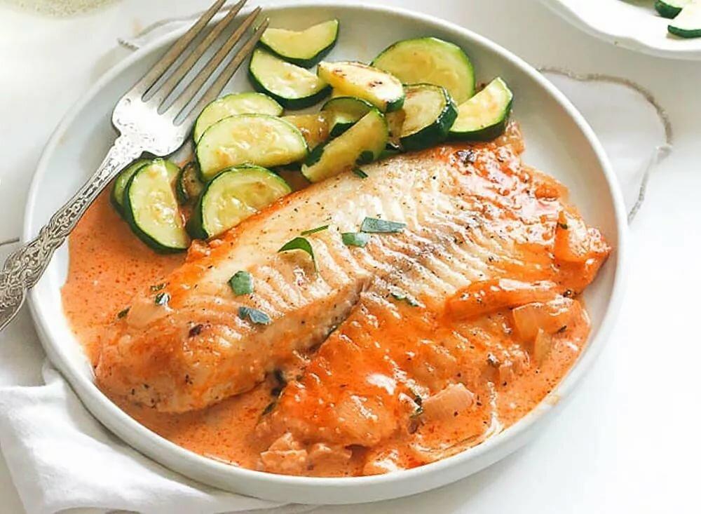 рыба в сметане на сковороде рецепт с фото летний мятной заправкой
