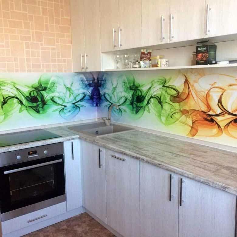 сайте картинки для стеклянного фартука на кухню абстракция монтаж своими