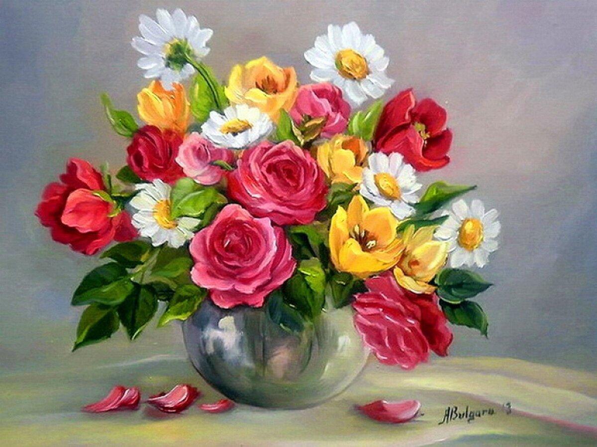 Картинки картины букет цветов